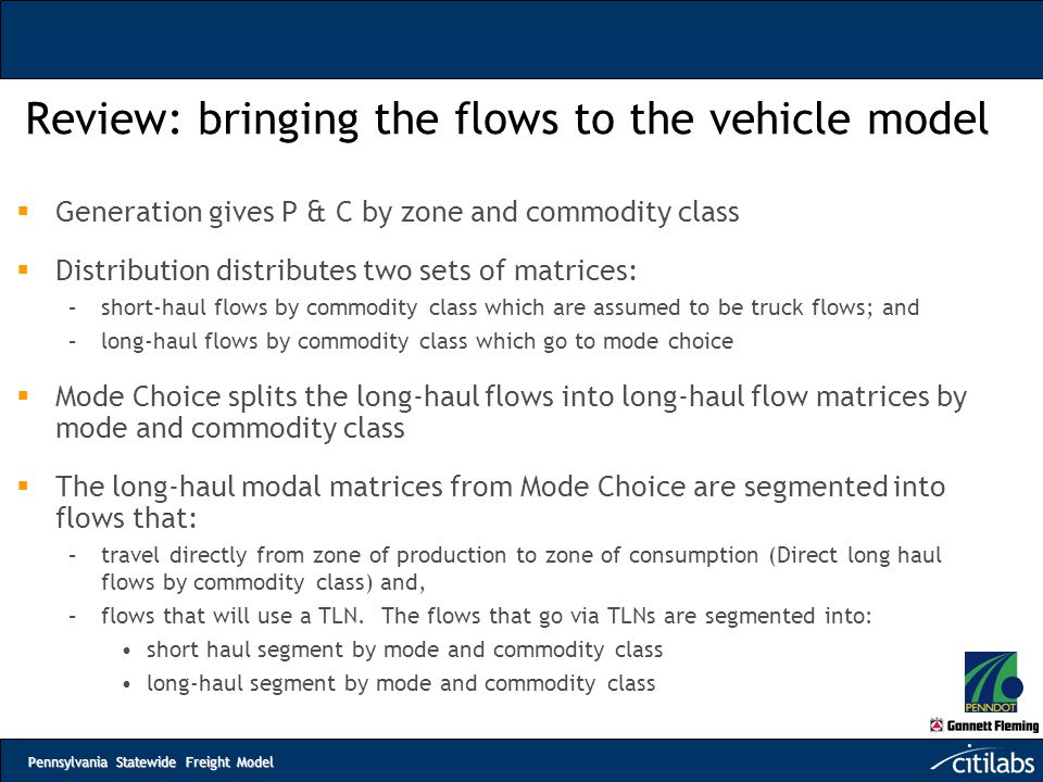 Review: bringing the flows to the vehicle model