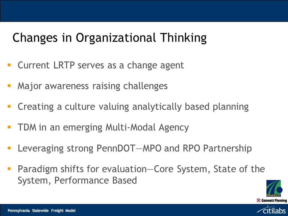 Changes in Organizational Thinking