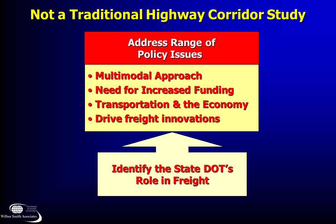 Not a Traditional Highway Corridor Study
