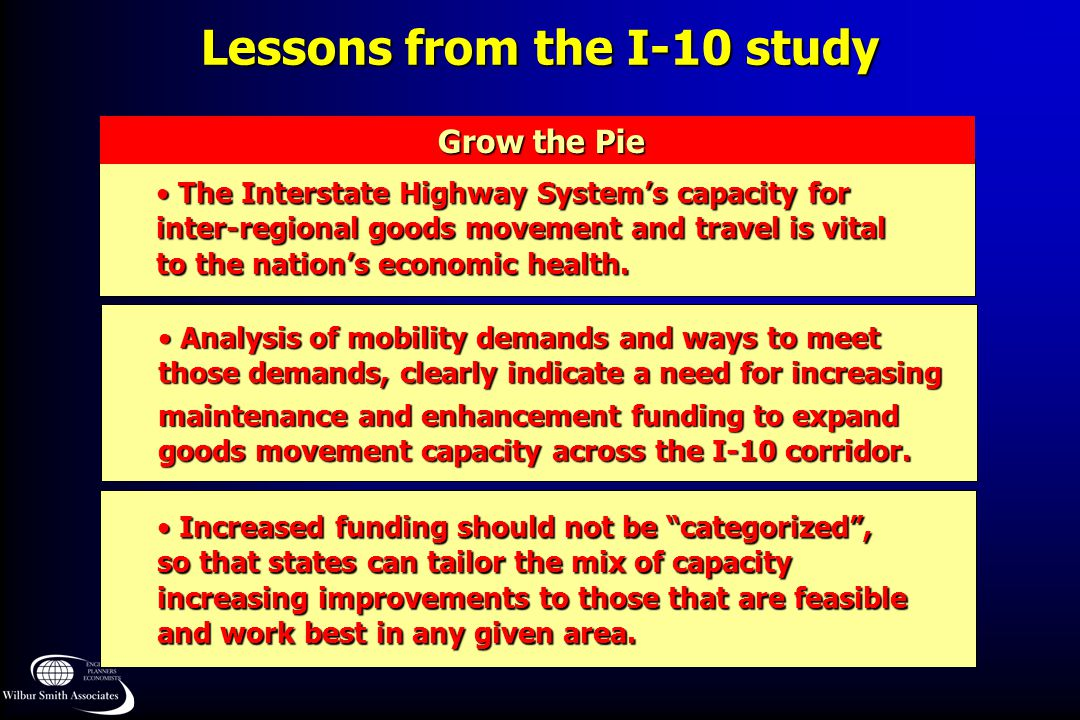 Lessons from the I-10 study