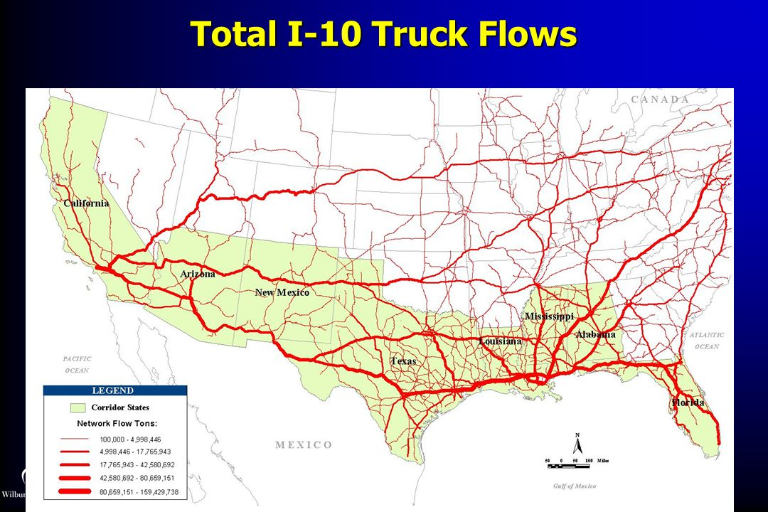 Total I-10 Truck Flows