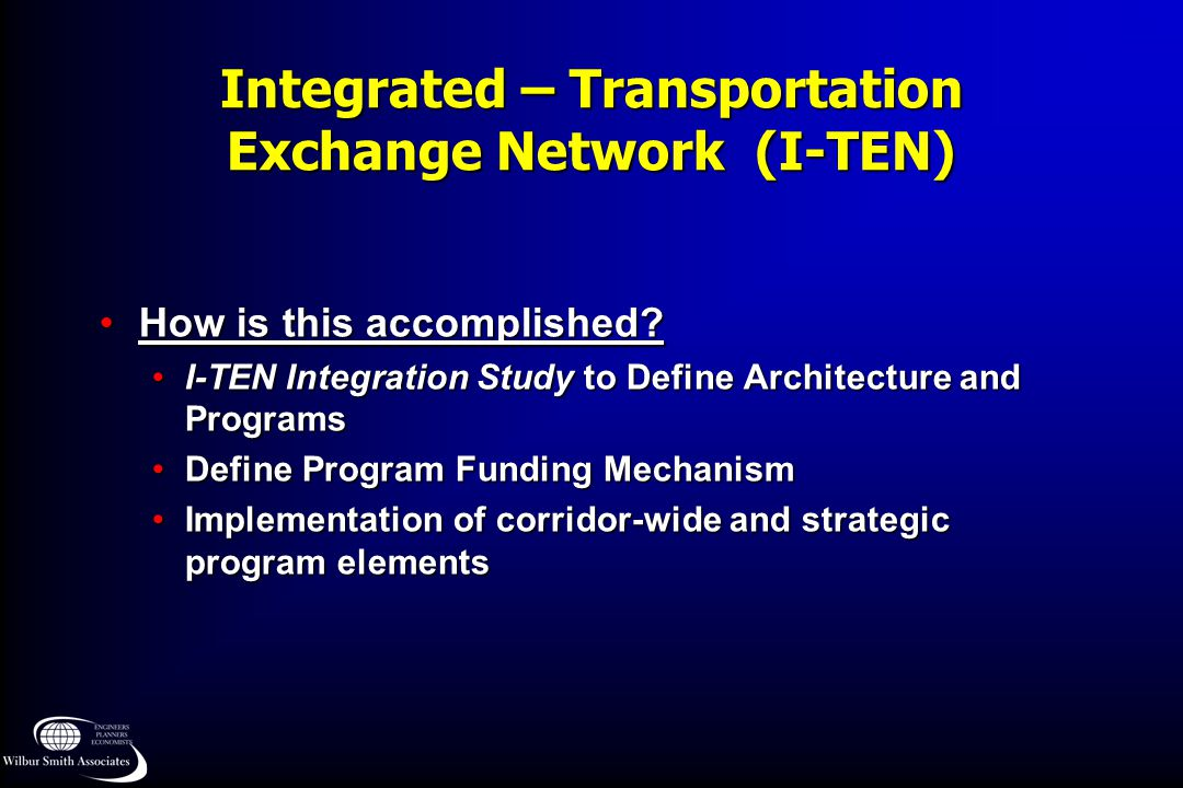 Integrated – Transportation Exchange Network (I-TEN)