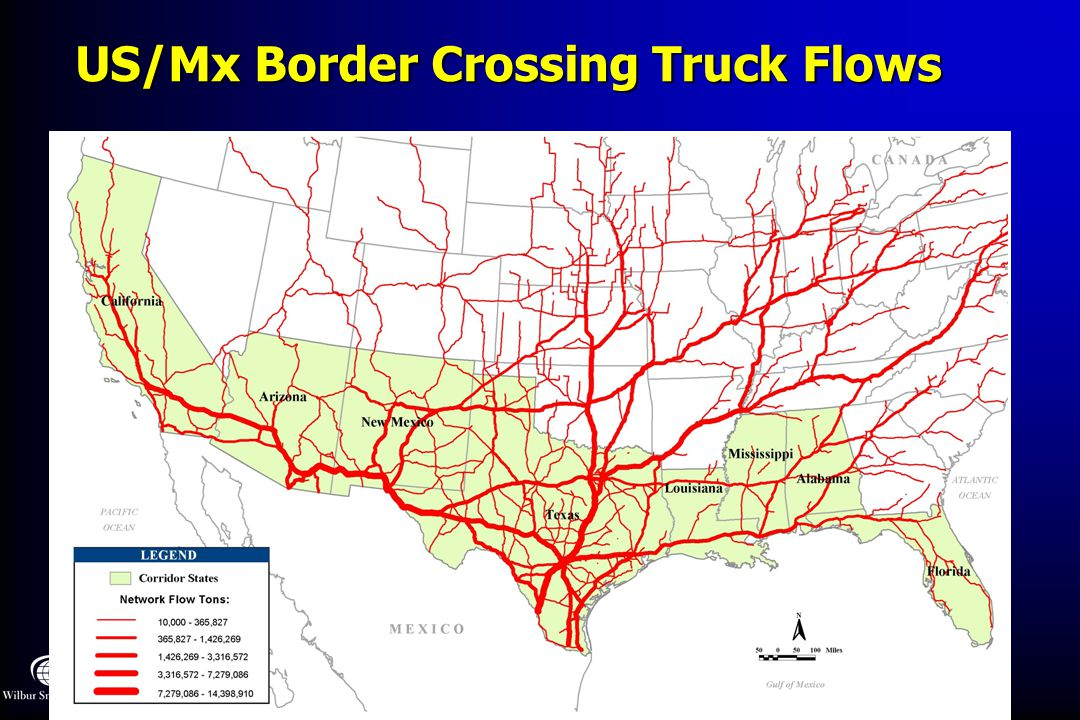 US/Mx Border Crossing Truck Flows