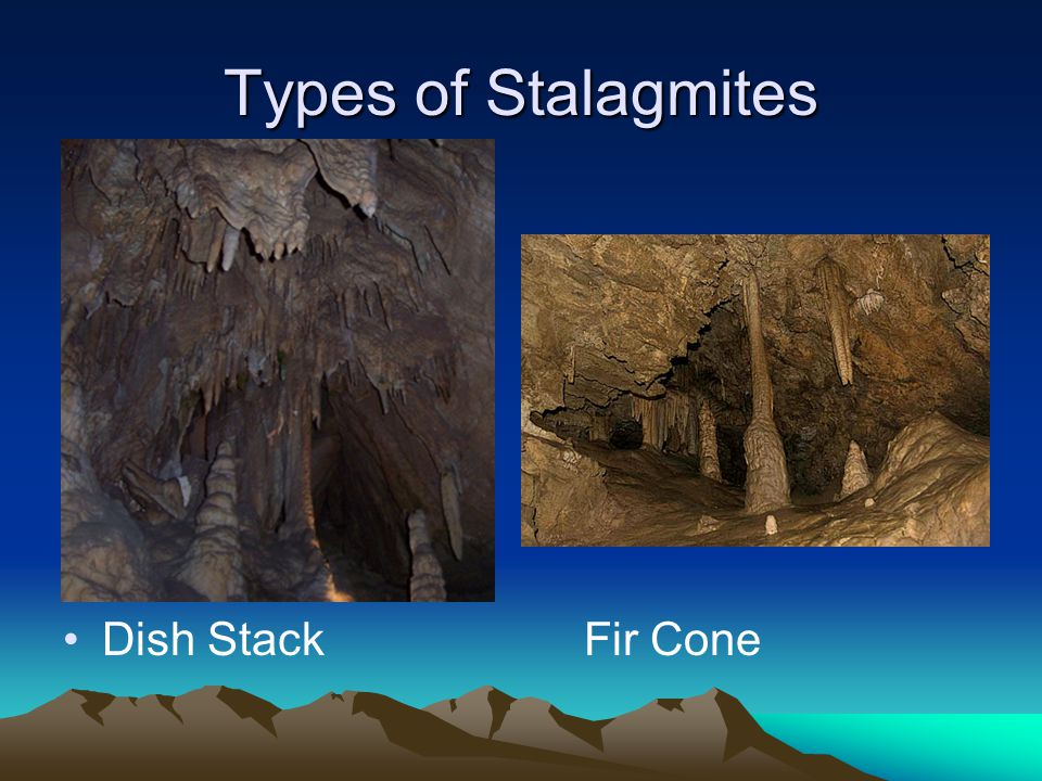 Types of Stalagmites Dish Stack Fir Cone
