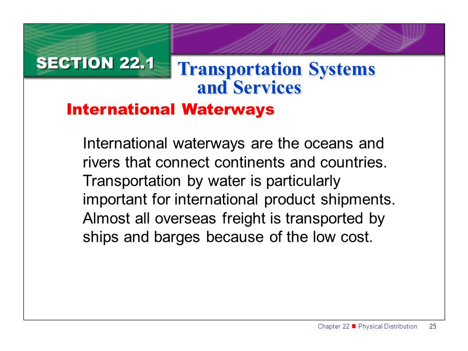 Transportation Systems and Services