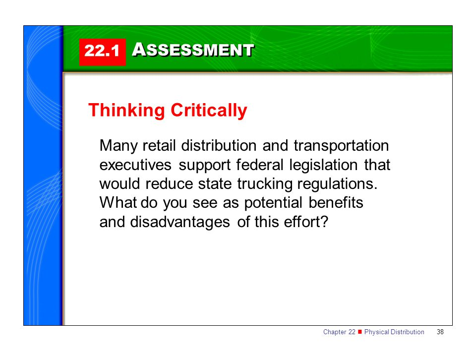 ASSESSMENT Thinking Critically 22.1