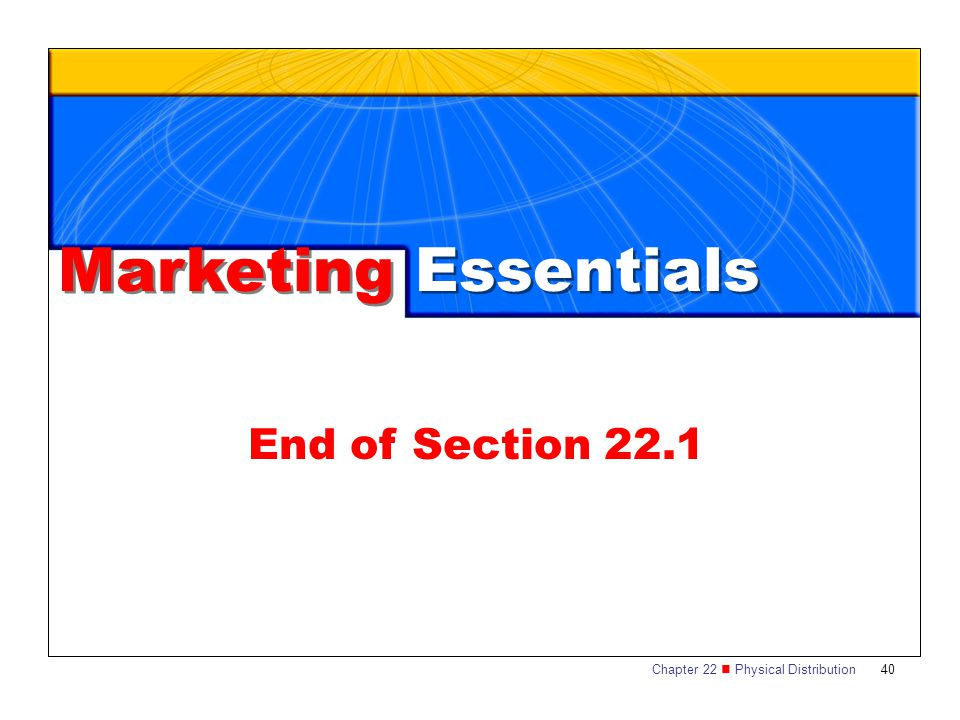 Marketing Essentials End of Section 22.1