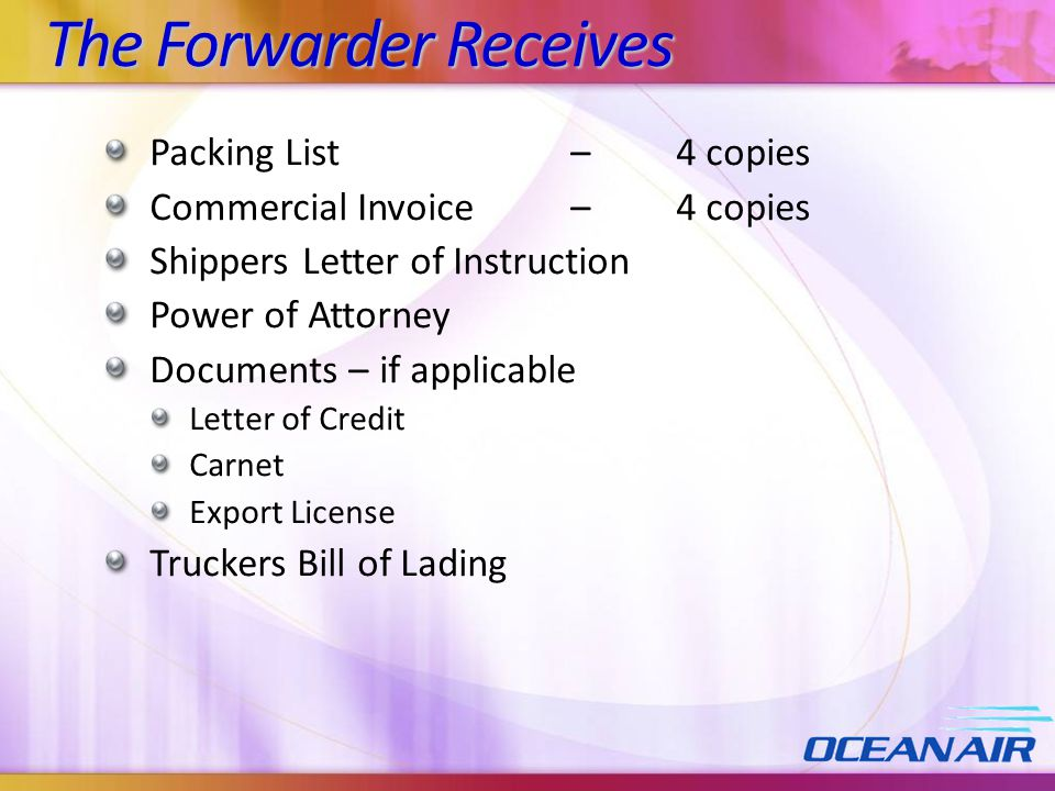 The Forwarder Receives