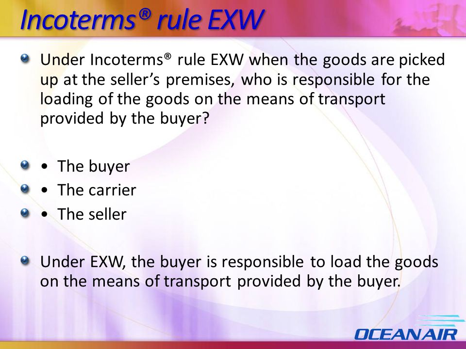Incoterms® rule EXW