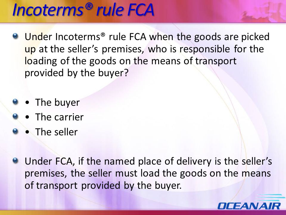 Incoterms® rule FCA