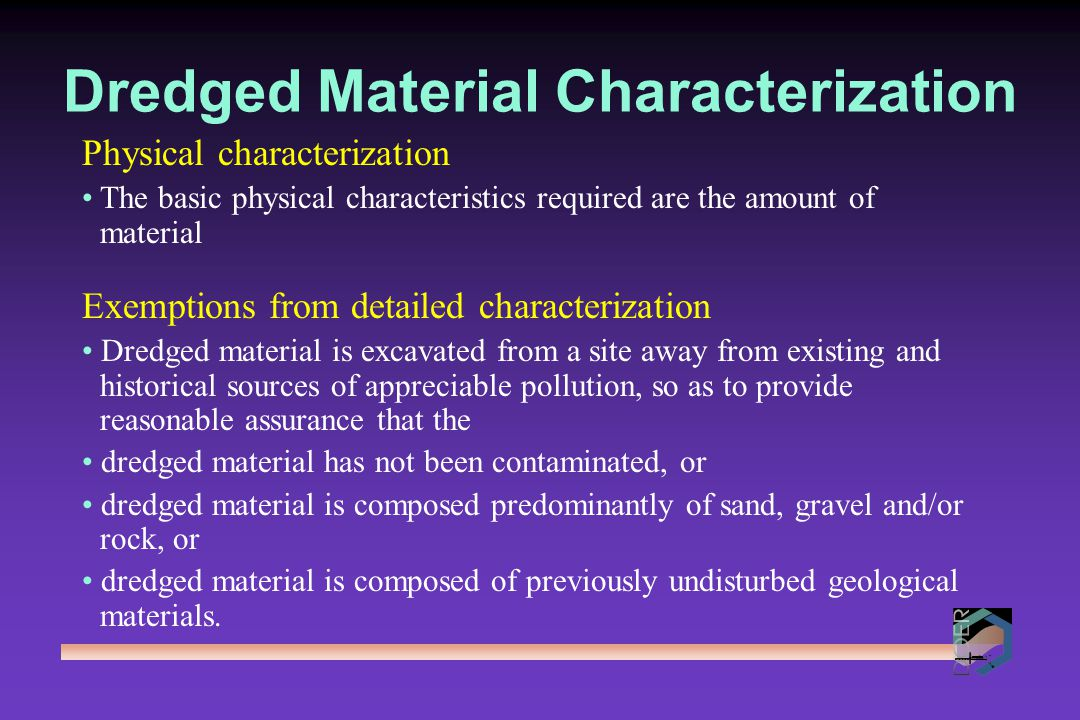 Dredged Material Characterization