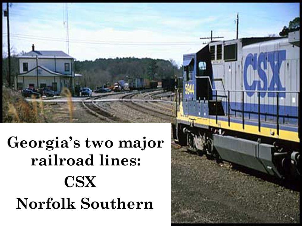 Georgia's two major railroad lines: