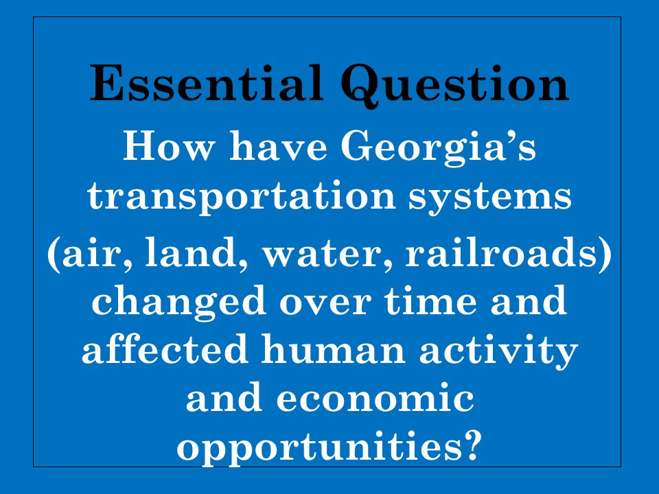 How have Georgia's transportation systems
