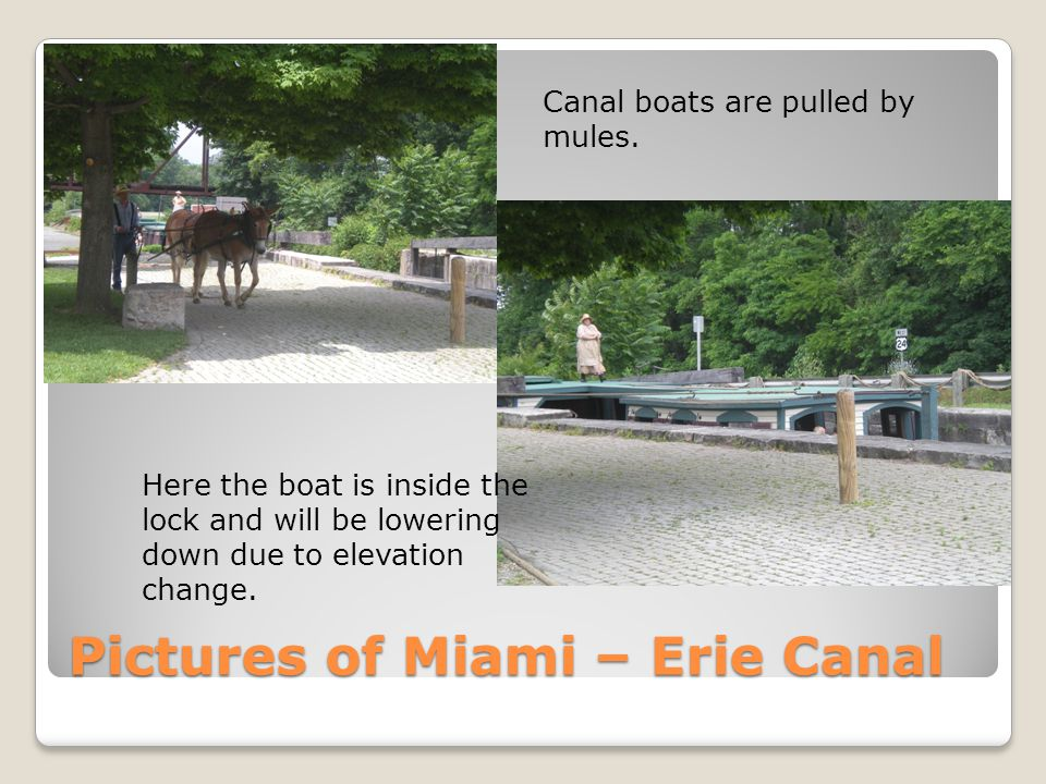 Pictures of Miami – Erie Canal