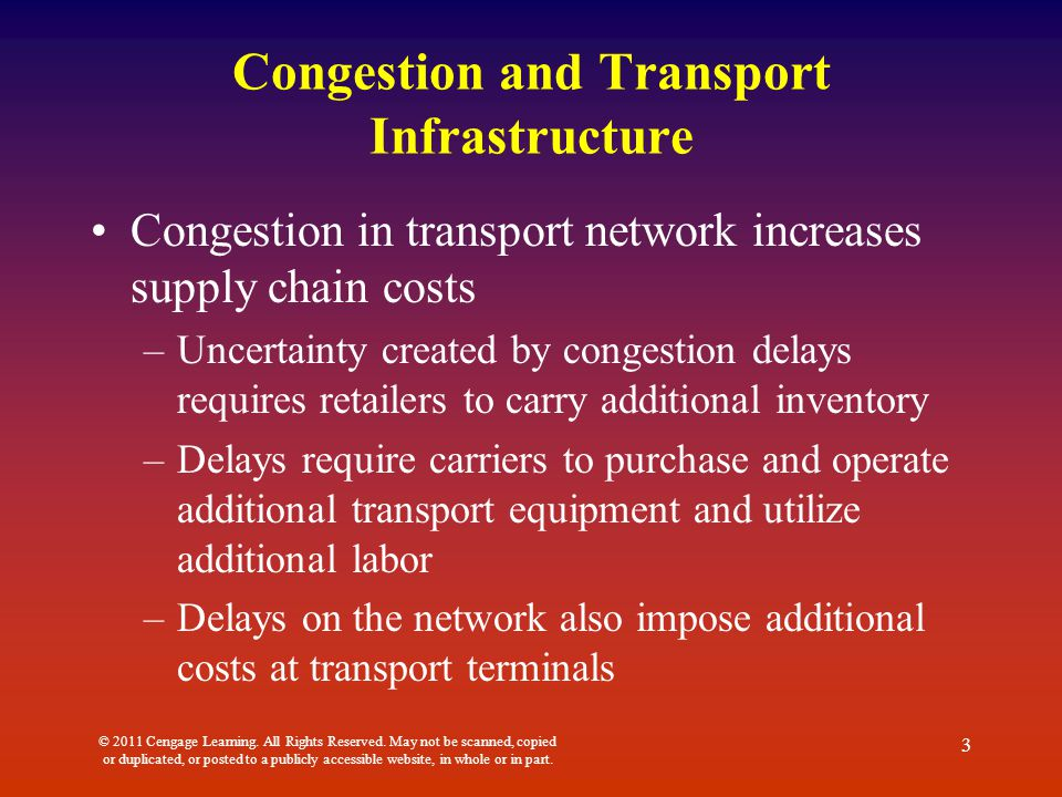 Congestion and Transport Infrastructure