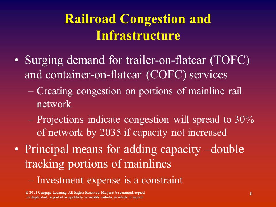 Railroad Congestion and Infrastructure