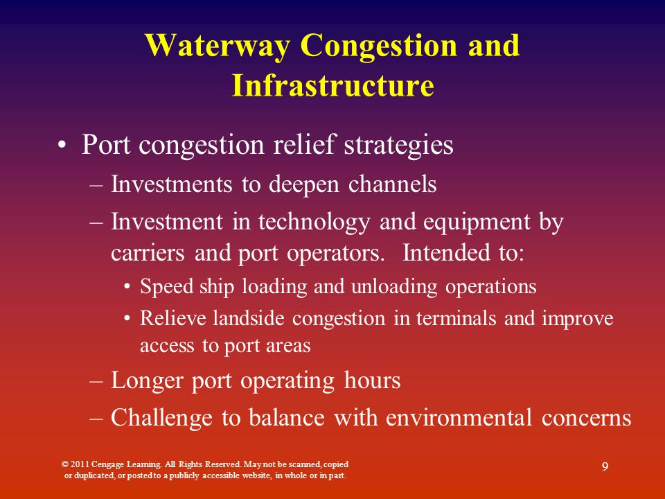 Waterway Congestion and Infrastructure