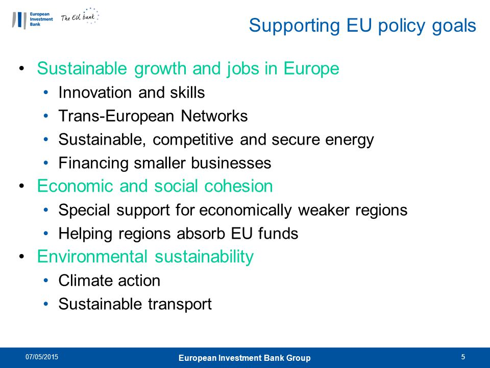 Supporting EU policy goals