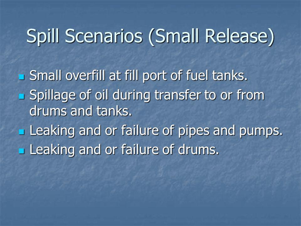 Spill Scenarios (Small Release)