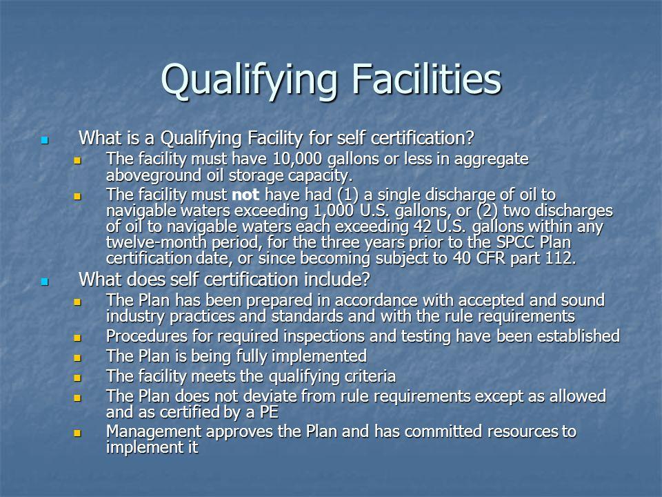 Qualifying Facilities