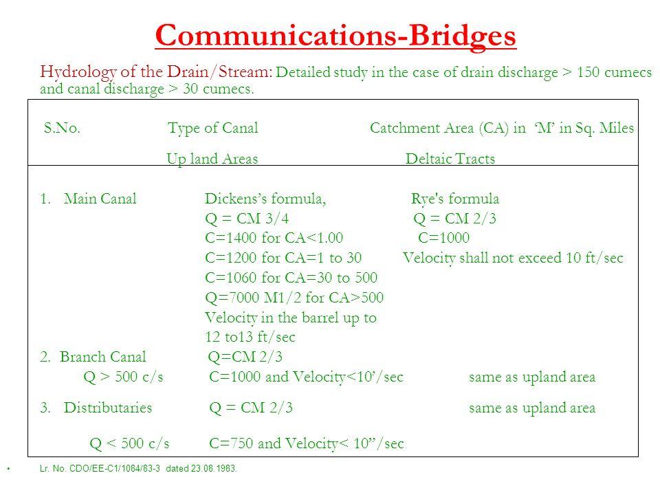 Communications-Bridges