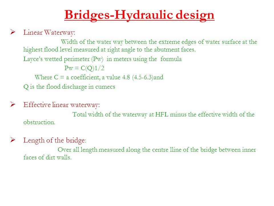 Bridges-Hydraulic design