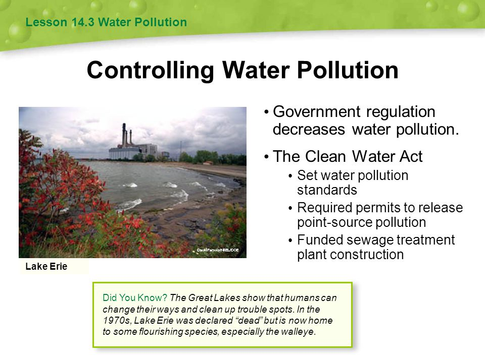 Controlling Water Pollution