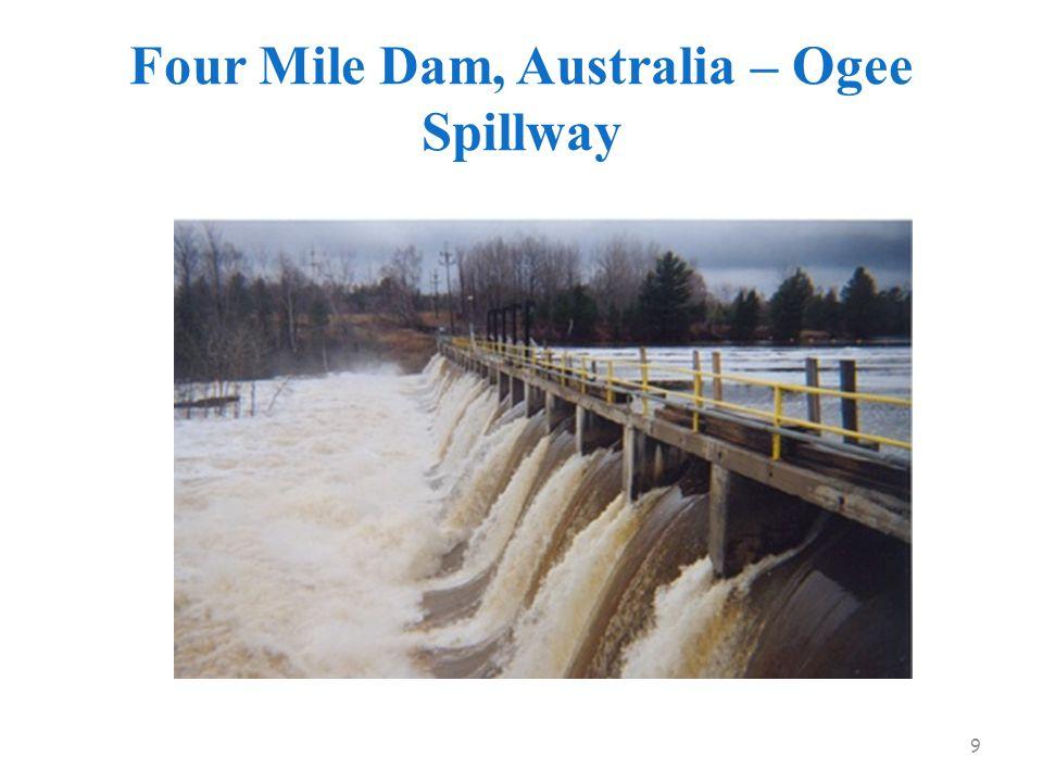Four Mile Dam, Australia – Ogee Spillway