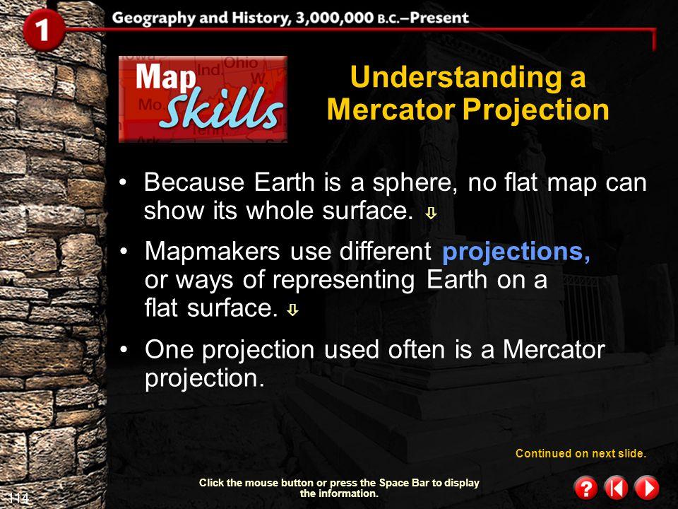 Understanding a Mercator Projection