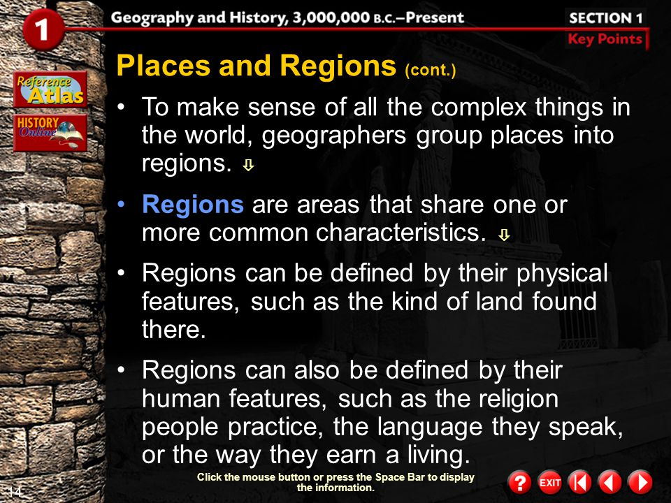 Places and Regions (cont.)