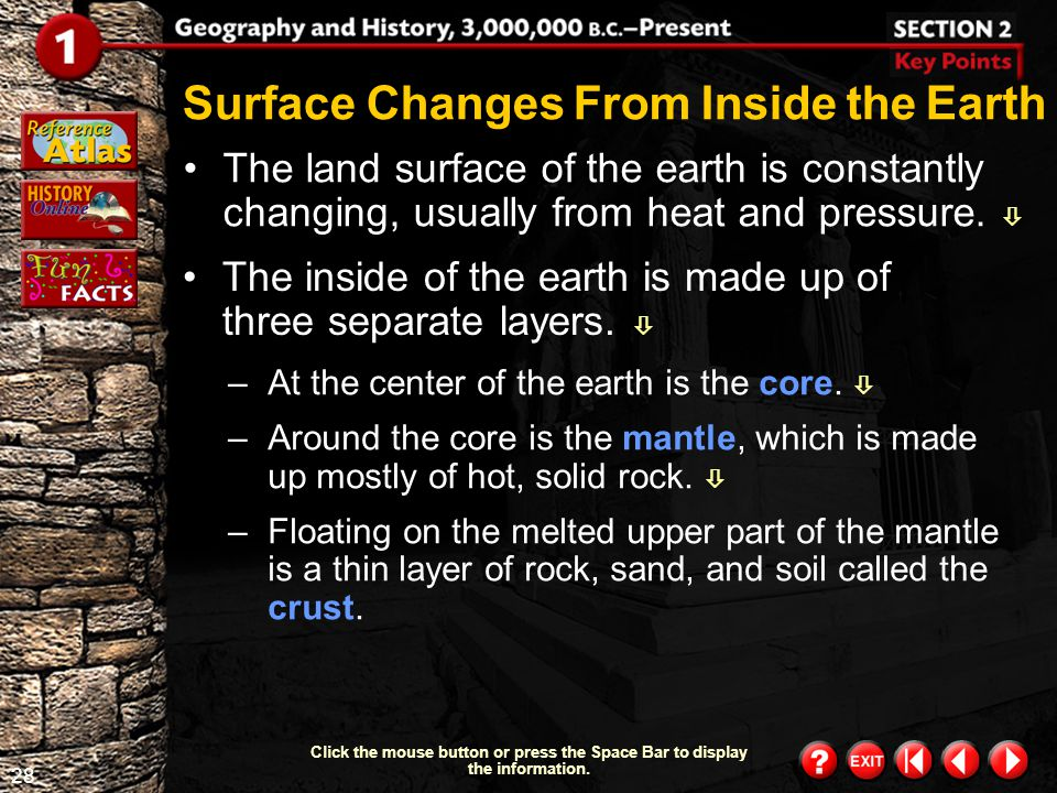 Surface Changes From Inside the Earth