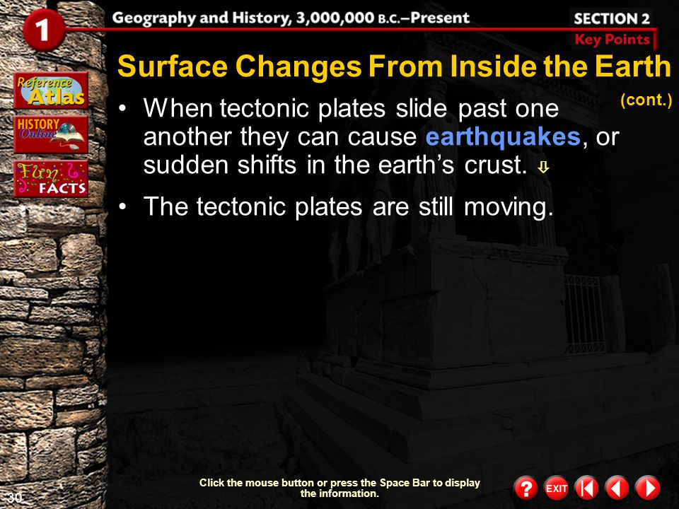 Surface Changes From Inside the Earth (cont.)