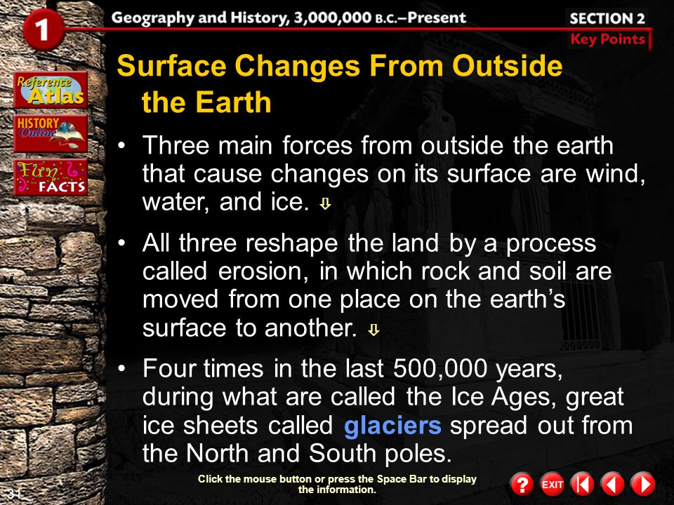 Surface Changes From Outside the Earth
