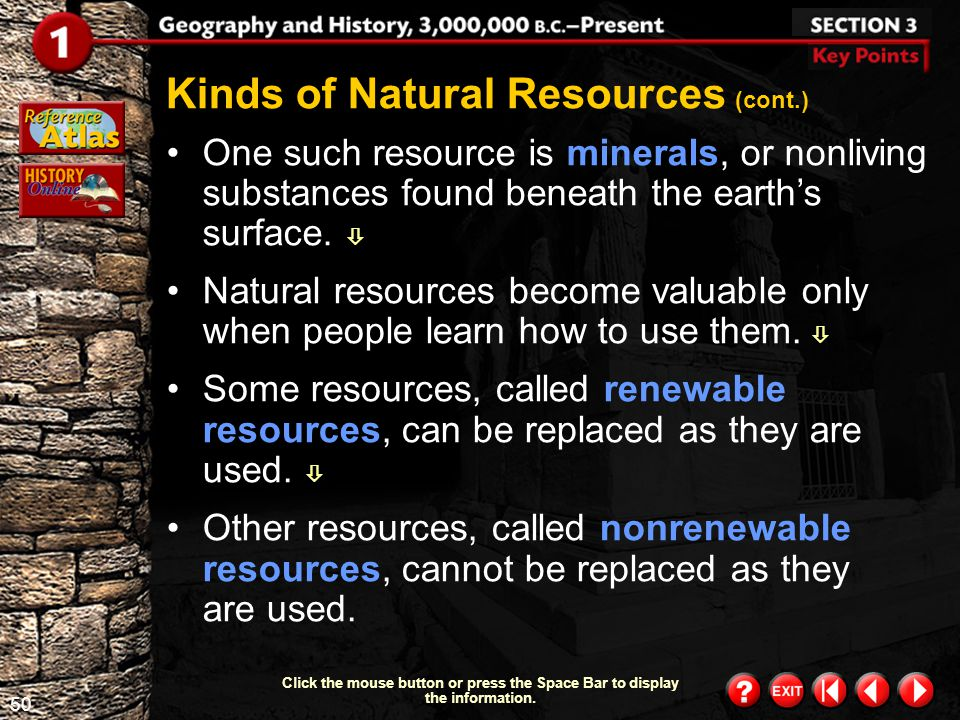 Kinds of Natural Resources (cont.)