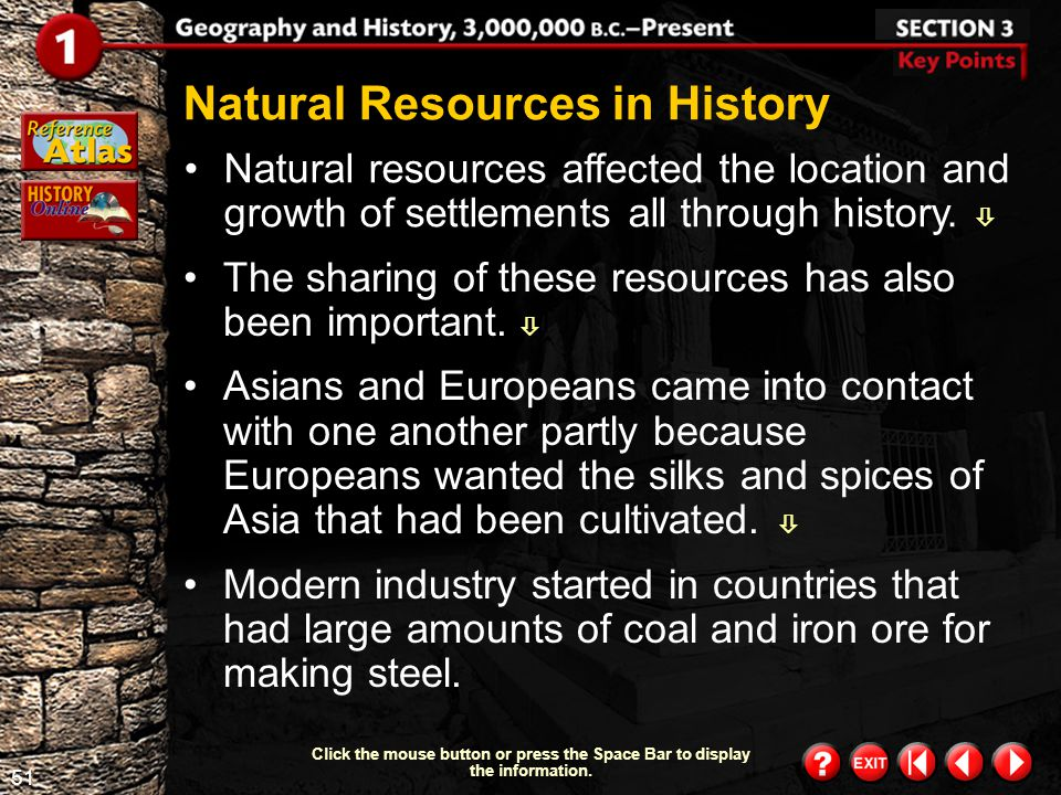 Natural Resources in History