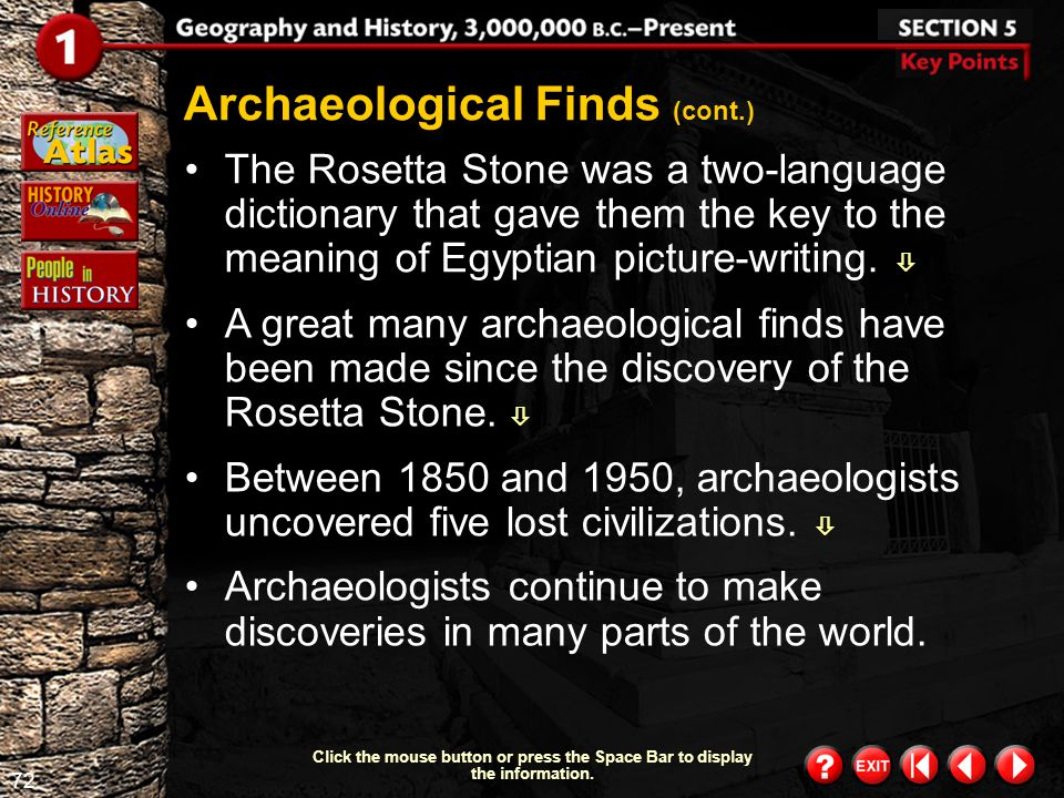 Archaeological Finds (cont.)