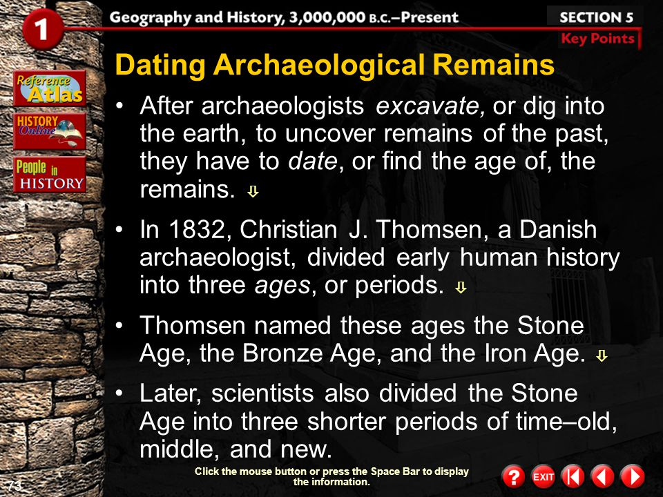 Dating Archaeological Remains