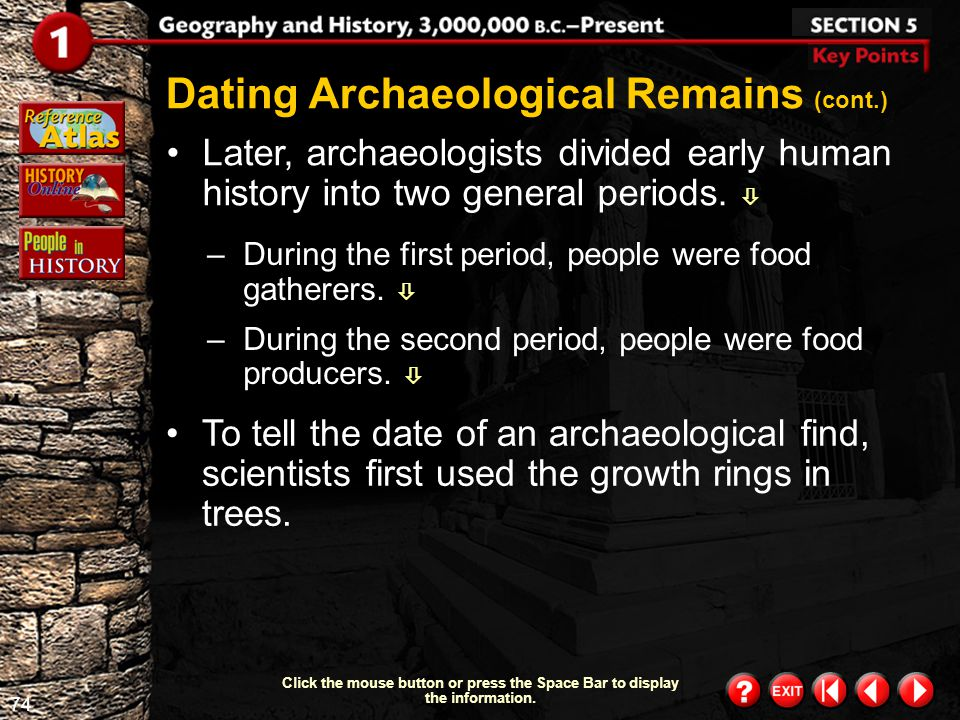 Dating Archaeological Remains (cont.)