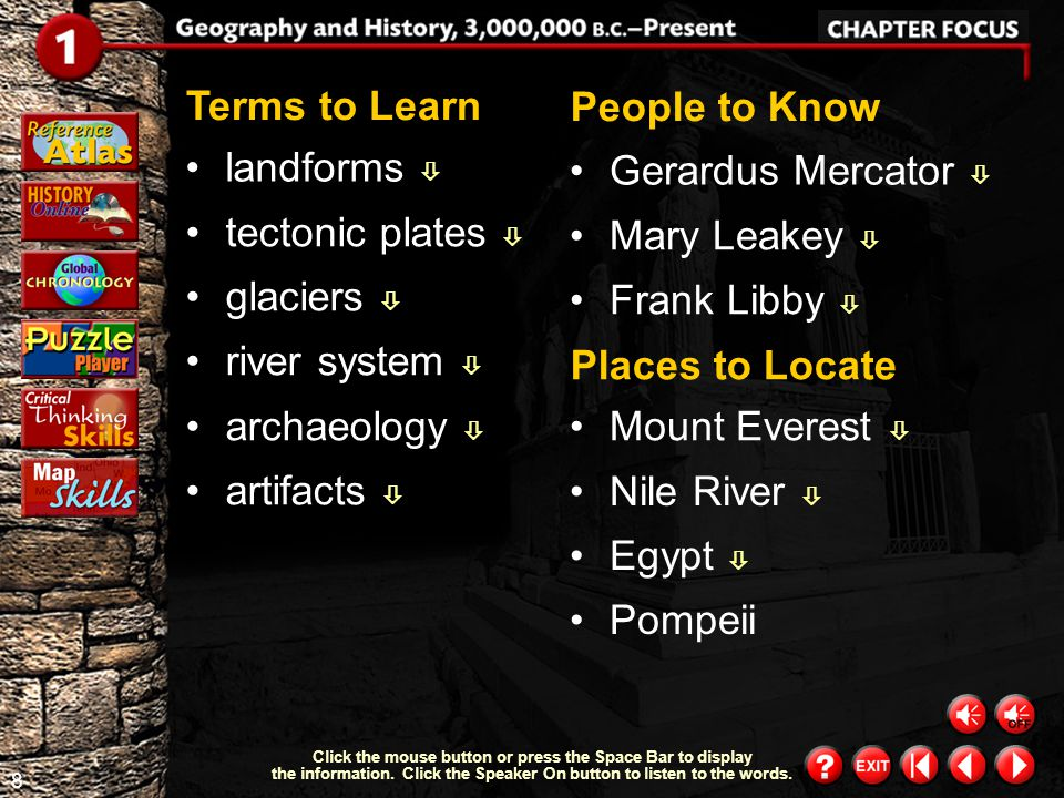 Terms to Learn People to Know landforms  Gerardus Mercator 