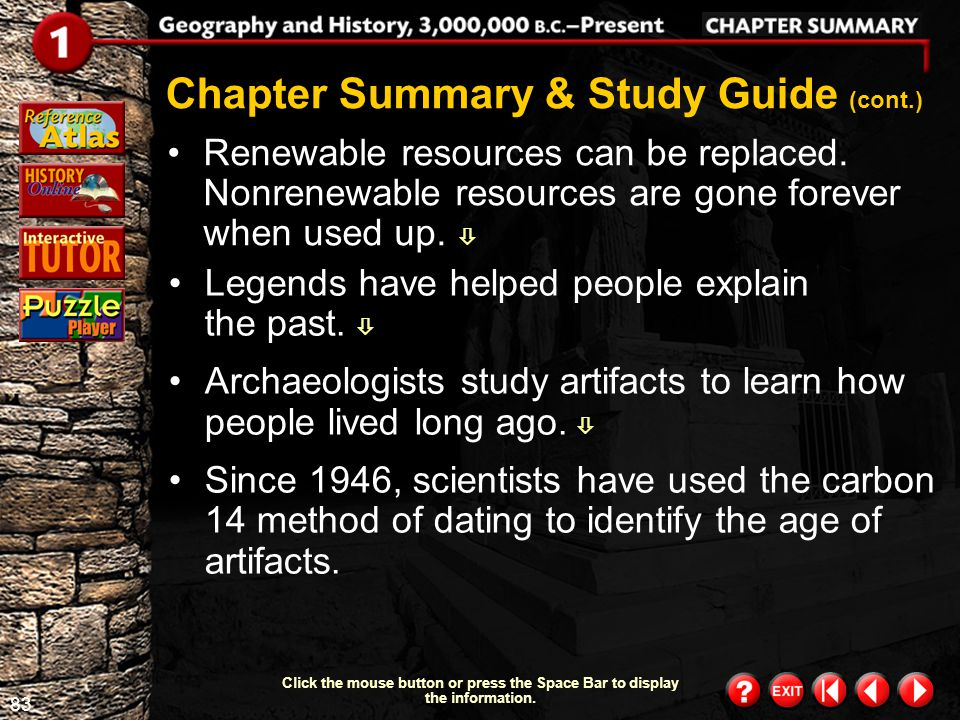 Chapter Summary & Study Guide (cont.)