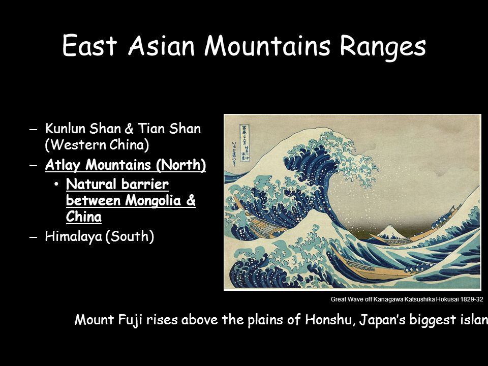 East Asian Mountains Ranges