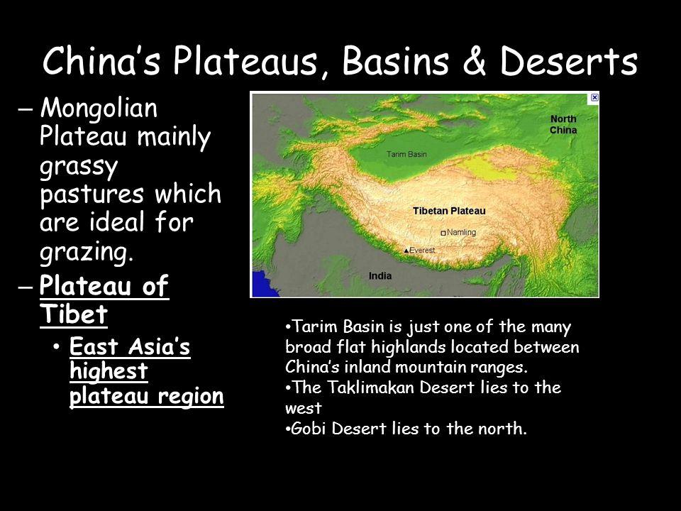 China's Plateaus, Basins & Deserts