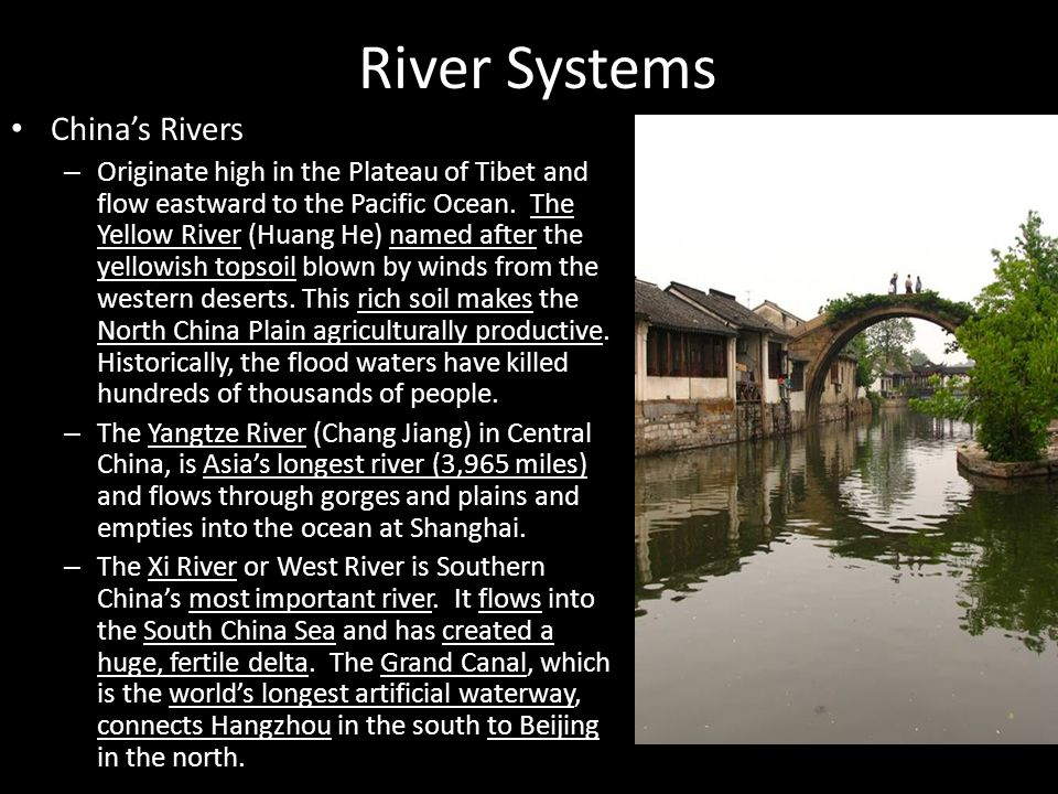 River Systems China's Rivers