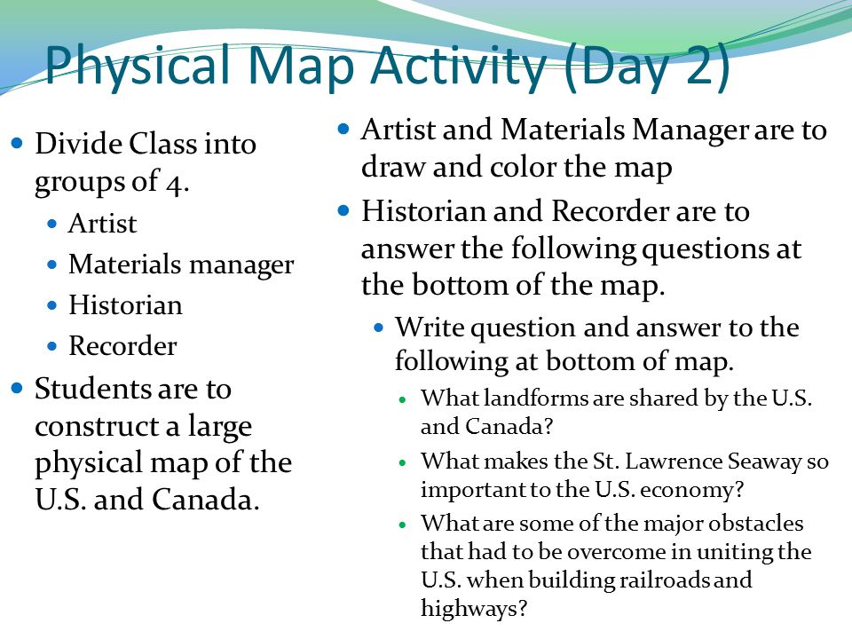 Physical Map Activity (Day 2)