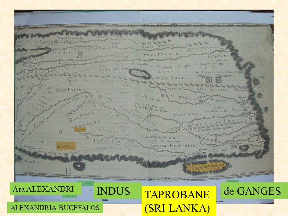 INDUS de GANGES TAPROBANE (SRI LANKA) Ara ALEXANDRI