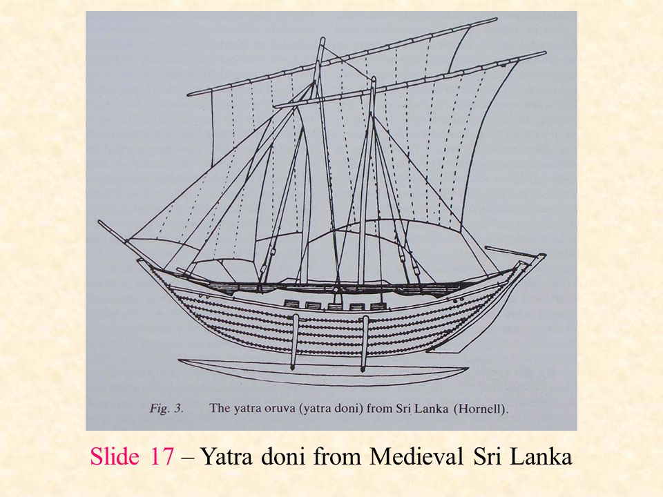 Slide 17 – Yatra doni from Medieval Sri Lanka
