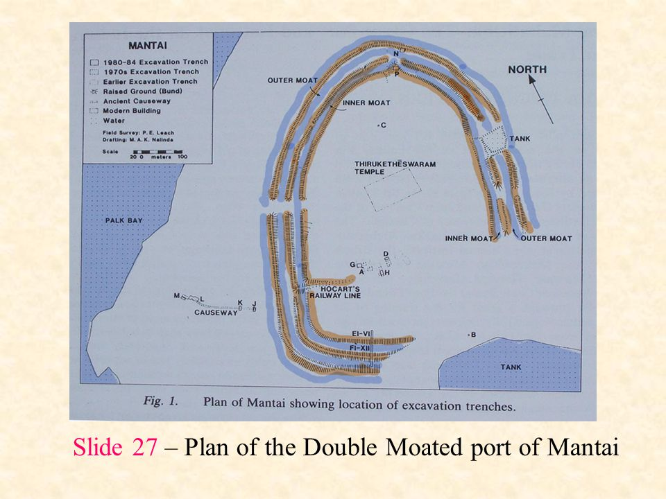 Slide 27 – Plan of the Double Moated port of Mantai