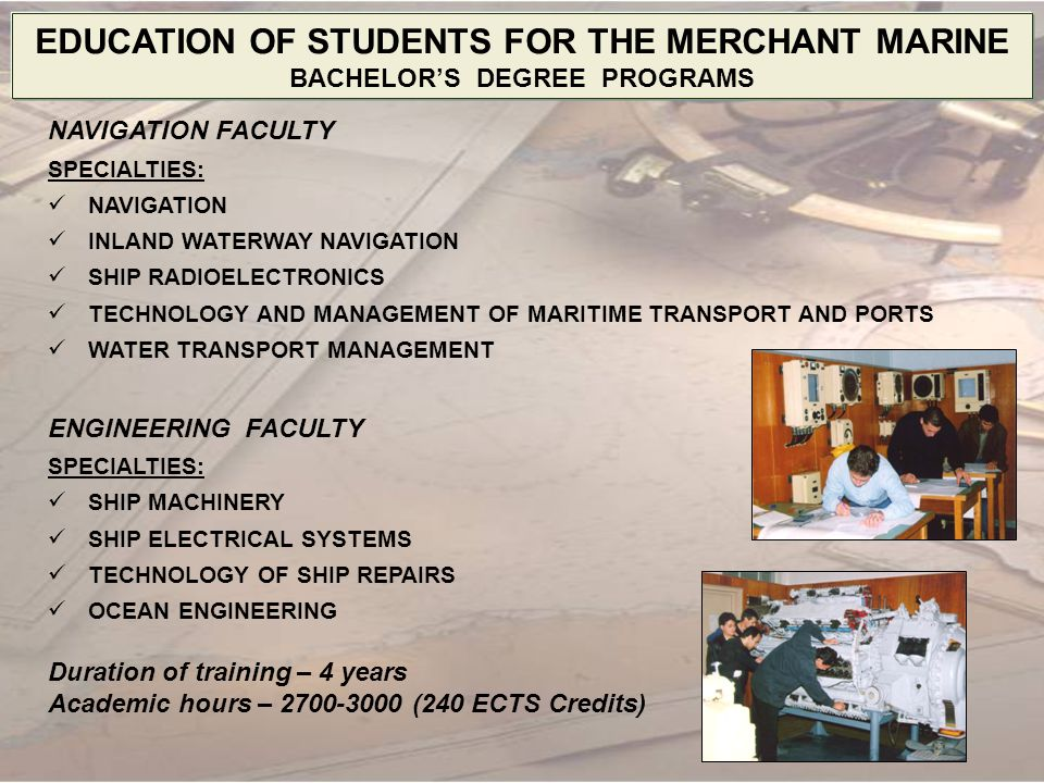 EDUCATION OF STUDENTS FOR THE MERCHANT MARINE