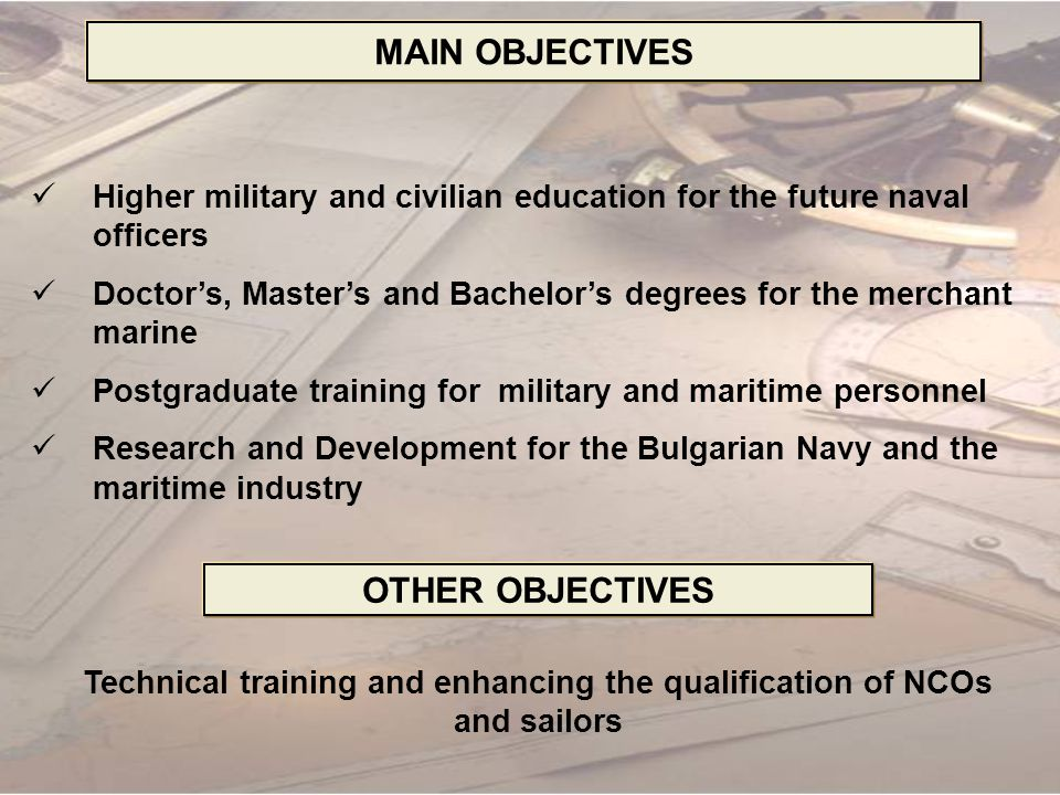 Technical training and enhancing the qualification of NCOs and sailors