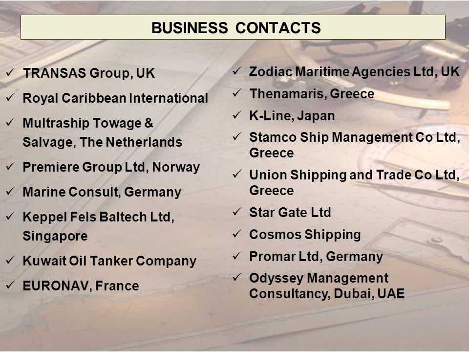 BUSINESS CONTACTS TRANSAS Group, UK Royal Caribbean International